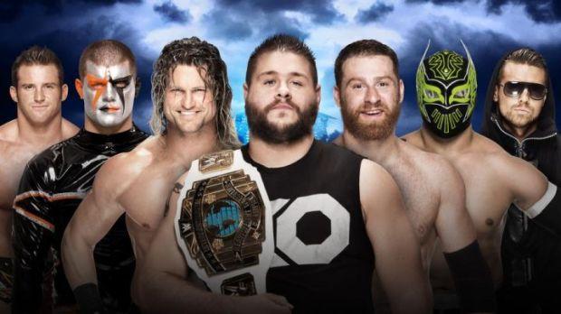 Intercontinental Champion Kevin Owens vs. Sami Zayn vs. Dolph Ziggler vs. Zack Ryder vs. Sin Cara vs. The Miz vs. Stardust