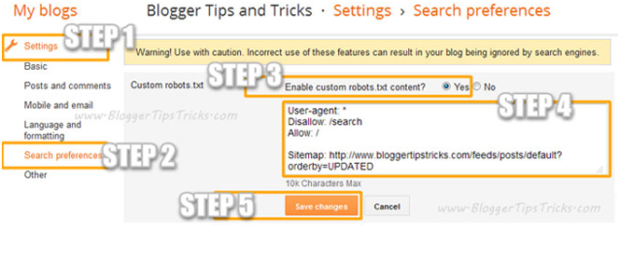 How To Add Custom Robots.txt File in Blogger Blogspot? : Sunny Fly News